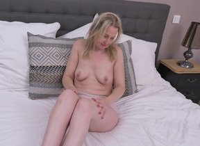 Naughty British housewife playing with her..