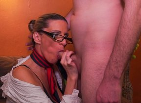 Randy Milf fucking increased by sucking