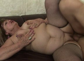 Two mature sluts getting a creampie