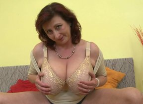 Outstanding breasted housewife Jana loves to..