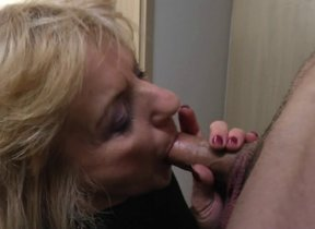 Horny matured lady doing her toyboy