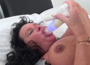 Big breasted grown-up slut getting soiled as hell