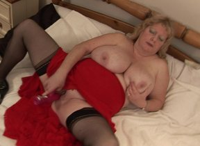 Big breasted mature Fiona gets soiled and..