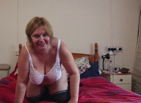 British mature lady shows her big tits and..