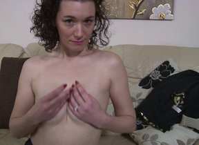 British housewife playing with her pasty pussy