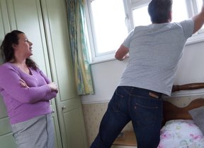 Curvy British housewife fucking with the..