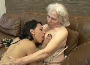 Puristic granny acquiring violated by a hot..