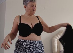 Horny big breasted British mature nipper getting..