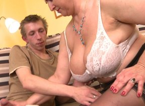 Horny prudish housewife gets fucked hard and..