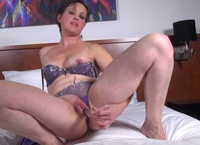 Horny mature floozy playing with their way wet..