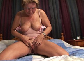 Perforated housewife bringing off nearly herself
