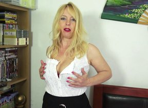 Naughty British MILF playing with her sopping..