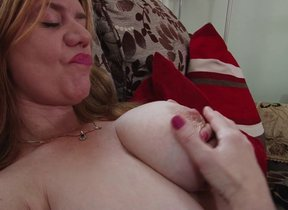Big breasted British housewife bringing off with..
