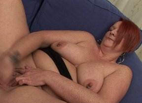 Chubby white-hot mature slut playing with her..