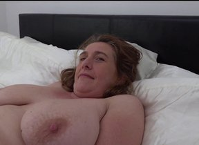 Naughty big breasted British housewife bringing..