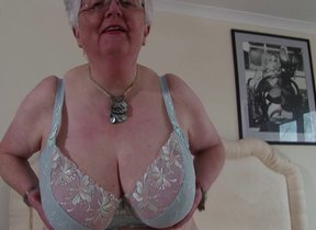 Big breasted British granny playing with yourself