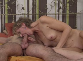 Mature housewife gets fucked away from her toyboy