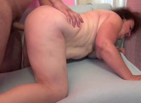 Mature with chubby tits fucked merciless by the..
