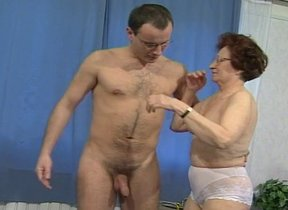 Slutty granny proves her style by riding weasel..