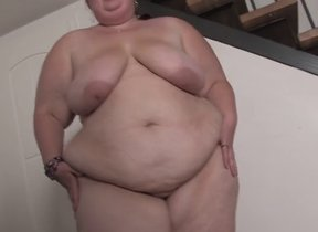 Obese of age with tall tits, kinky solo..